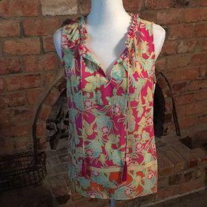 Rose + Olive luxury print blouse